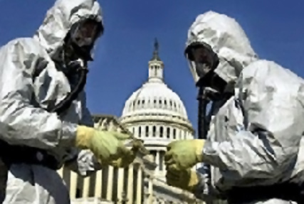 Hazmat suits and the Capital building
